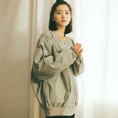 TREEZIN - Loose-Fit Zip Jacket