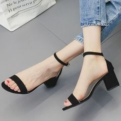 Frivole - Ankle Strap Block Heel Sandals