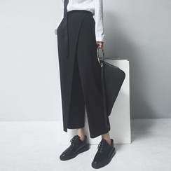 Sonne - Wrapped Cropped Dress Pants