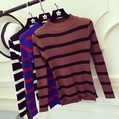 Honeydew - Striped Long Sleeve Knit Top