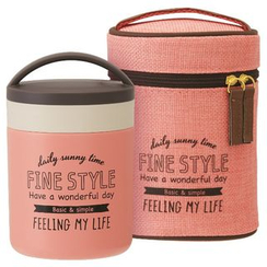 Skater - Fine Style Thermal Delica Pot with Case (Pink)