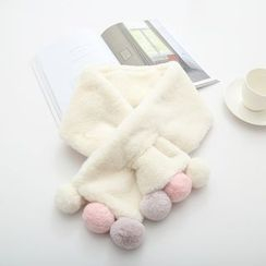 MAOMAO - 绒毛球围巾