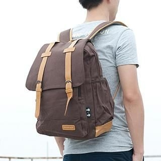 MURATI - Contrast-Strap Canvas Backpack