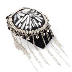 Trend Cool - Studded Fringed Shoulder Brooch
