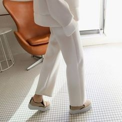 PPGIRL - Wide-Leg Velvet Pants