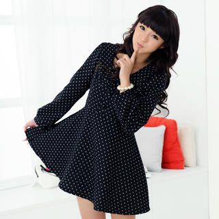 59 Seconds - Polka Dot Peter Pan Collar Dress