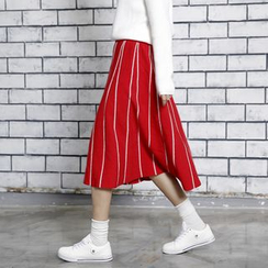Sonne - Color-Block Knit Midi Skirt