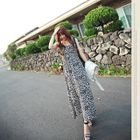 ARIA MALL - Leopard Patterned Sleeveless Maxi Dress