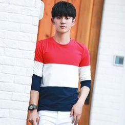 Blitz - Color Block Long-Sleeve T-Shirt