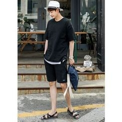 GERIO - Set: Round-Neck T-Shirt + Sweat Shorts