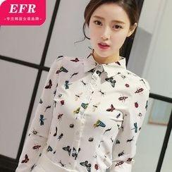 Eferu - Insect Print Chiffon Shirt