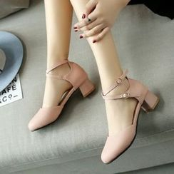Pangmama - Cross-Strap Pumps