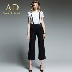Aision - Short-Sleeve Shirt / Cropped Pants