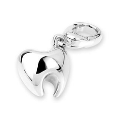 Bling Bling - Bling Bling Platinum Plated 925 Sterling Silver Teeth Bracelet Charm