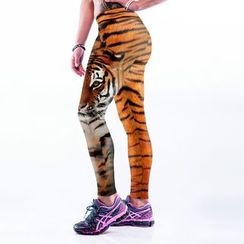 Omifa - Leopard Print Leggings