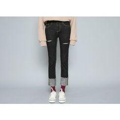 Envy Look - Rollup-Hem Straight-Cut Pants