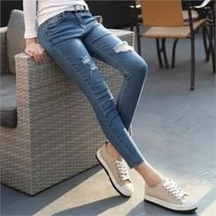 CHICFOX - Distressed Skinny Jeans