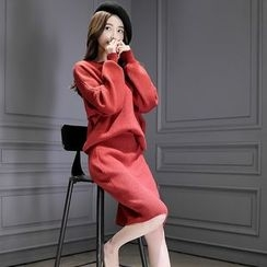 Romantica - Set: Plain Sweater + Knit Skirt