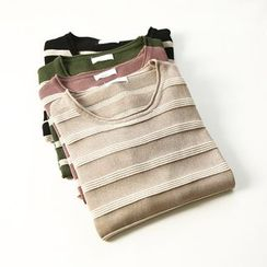 蘭芝 - 條紋短袖毛衣