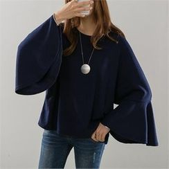 PEPER - Round-Neck Bell-Sleeve T-Shirt
