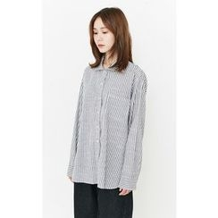 Someday, if - Pocket-Front Stripe Shirt