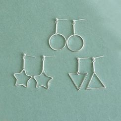 Love Generation - Geometric Drop Earrings