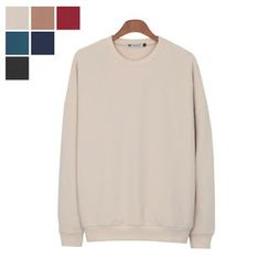 DANGOON - Drop-Shoulder Colored Sweatshirt