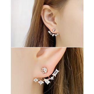 soo n soo - Rhinestone Drop Earrings
