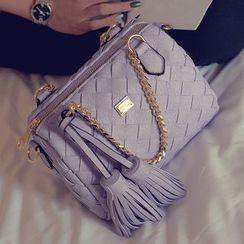 Nautilus Bags - Woven Tassel Handbag