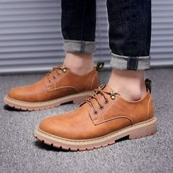 WeWolf - Genuine-Leather Lace-Up Casual Shoes