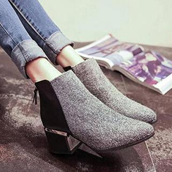 SouthBay Shoes - Chunky Heel Ankle Boots