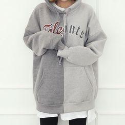 DANI LOVE - Hood Lettering Two-Tone Pullover