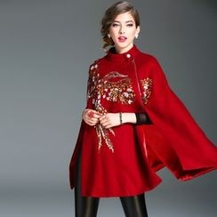 Elabo - Sequined Wool Cape