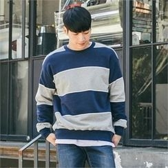 STYLEMAN - Round-Neck Color-Block T-Shirt