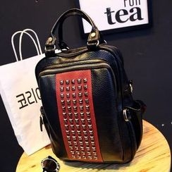 Donini Bags - Color-Block Studded Backpack