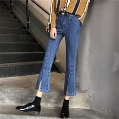 Tiny Times - Cropped Boot Cut Jeans