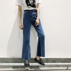 Jeans Kingdom - Fray Boot-cut Jeans