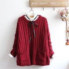 akigogo - 麻花針織毛衣