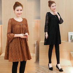 VIZZI - 3/4-Sleeve Lace Dress