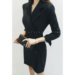 ATTYSTORY - Wrap-Front Mini Coatdress