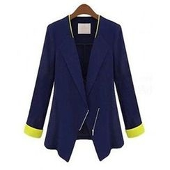 AGA - Long-Sleeve Color Block Blazer