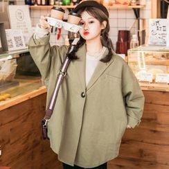 Dute - Loose Fit Single Button Lapel Jacket