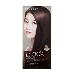 The Face Shop - Stylist Silky Hair Color Cream (#3N Black Brown) 130ml