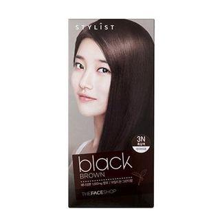 the face shop stylist silky hair color cream 3n