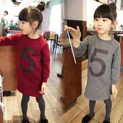 Spring Swallow - Kids Long-Sleeve Lettering Dress