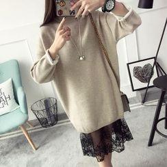 Qimi - Plain Sweater Dress