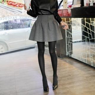 ELLASOO - High-Waist A-Line Skirt