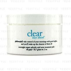 Philosophy - Clear Days Ahead Overnight Repair Salicylic Acid Acne Treatment Pads
