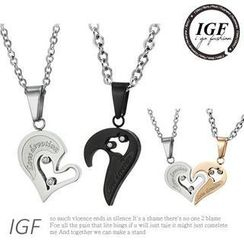 I Go Fashion - Couple Heart Pattern Necklace