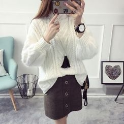 Qimi - Cable Knit Sweater